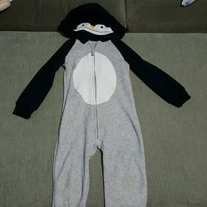Cute Penguin Hooded One Piece